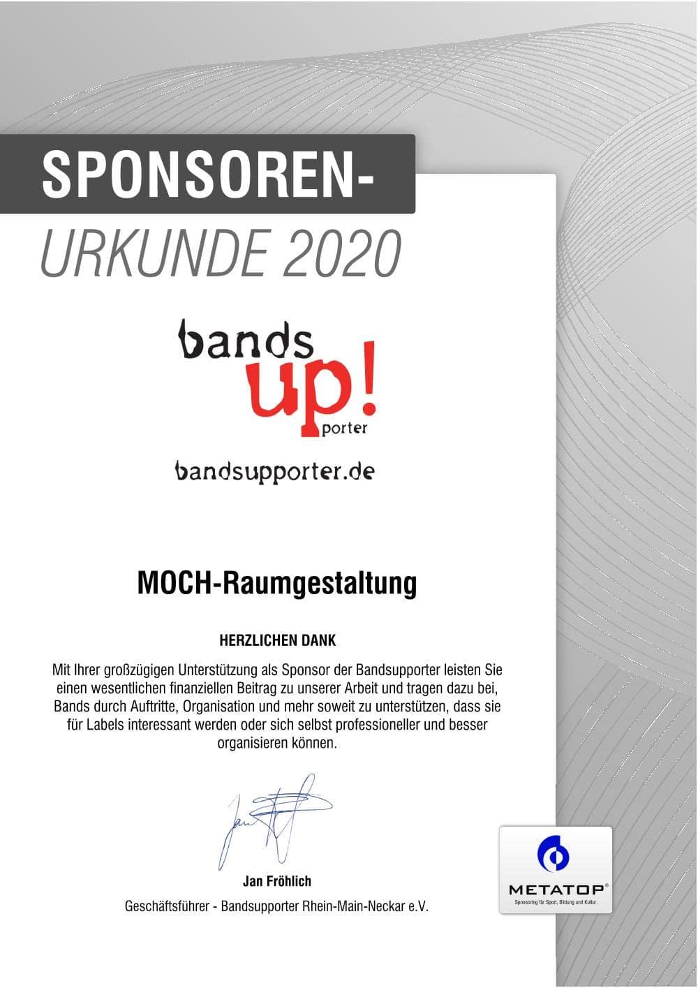 MOCH-Raumgestaltung_Bands_up_2020_Urkunde